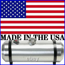 10X36 Spun Aluminum Gas Tank 12 Gallons With Sight Gauge Rat Rod Center Fill