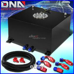 10 Gallon/38l Black Aluminum Fuel Cell Gas Tank+level Sender+nylon Oil Feed Kit