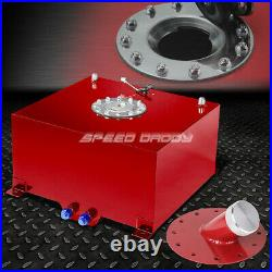 10 Gallon/38l Red Coated Aluminum Fuel Cell Tank+level Sender+45° Fast Fill Neck