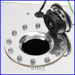 10 Gallon Aluminum Fuel Cell Tank+cap+feed Line Kit+pressure Regulator Silver