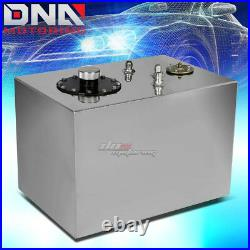 12 Gallon Top-feed Performance Polished Aluminum Fuel Cell Tank+cap+level Sender