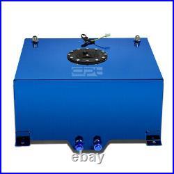15.5 Gallon Lightweight Blue Coat Aluminum Racing Fuel Cell Tank+level Sender