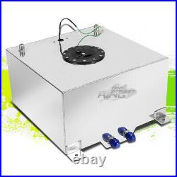 15.5 Gallon Lightweight Polished Aluminum Gas Fuel Cell Tank+ Sender 20x18x10