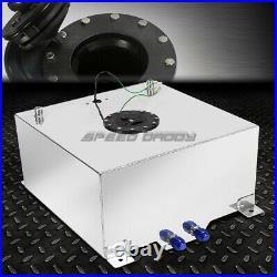 15 Gallon/57 Liter Polished Aluminum Racing Drift Fuel Cell Tank+level Sender