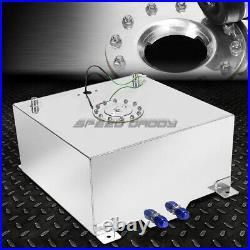 15 Gallon/57l Polished Aluminum Racing/drifting Fuel Cell Tank+cap+level Sender