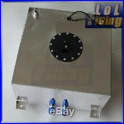 15 Gallon 60 Litre Fuel Cell Tank Lightweight Aluminum + GM Sending Unit + Foam