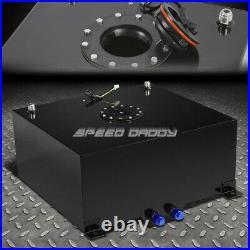 15 Gallon Black Coat Aluminum Fuel Cell Gas Tank+level Sender+45 Fast Fill Neck