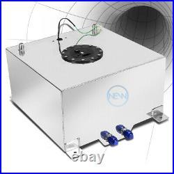15 Gallon Lightweight Polished Aluminum Gas Fuel Cell Tank+level Sending Unit