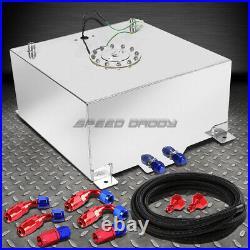 15 Gallon Polished Aluminum Fuel Cell Tank+cap+level Sender+nylon Fuel Line Kit