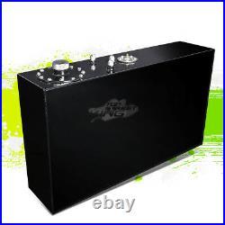 17 GALLON LIGHTWEIGHT BLACK ALUMINUM GAS FUEL CELL TANK+SENDER 30x7x17