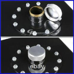 17 Gallon Top-feed Black Coat Aluminum Slim Gas Fuel Cell Tank+level Sender+foam