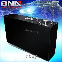 17 Gallon Top-feed Performance Black Aluminum Slim Fuel Cell Tank+level Sender
