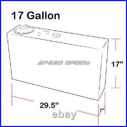 17 Gallon Top-feed Slim Aluminum Fuel Cell Gas Tank+level Sender+steel Line Kit