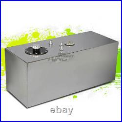 19 Gallon Lightweight Polished Aluminum Gas Fuel Cell Tank+ Sender 29.75x12x12