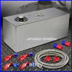 19 Gallon Top-feed Aluminum Fuel Cell Gas Tank+cap+level Sender+steel Line Kit