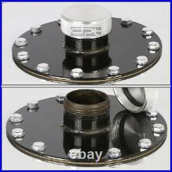 19 Gallon Top-feed Polished Aluminum Race Drift Fuel Cell Tank+cap+level Sender
