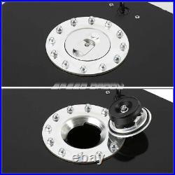 20 Gallon/76l Black Coat Aluminum Racing/drift Fuel Cell Tank+cap+level Sender