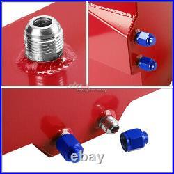 20 Gallon/76l Red Aluminum Racing/drift Fuel/gas Cell Tank+cap+level Sender