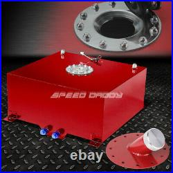 20 Gallon/76l Red Coated Aluminum Fuel Cell Tank+level Sender+45° Fast Fill Neck