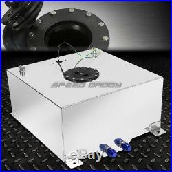 20 Gallon/78 Liter Polished Aluminum Racing Drift Fuel Cell Tank+level Sender