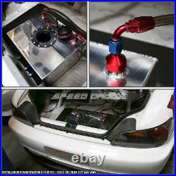 20 Gallon/78l Aluminum Fuel Cell Tank+feed Line Kit+11 Pressure Regulator Red