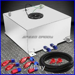 20 Gallon/78l Polished Aluminum Fuel Cell Tank+level Sender+nylon Fuel Line Kit