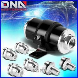 20 Gallon Aluminum Fuel Cell Tank+cap+oil Feed Line+30 Micron Filter Kit Black