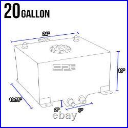 20 Gallon Lightweight Blue Coat Aluminum Race Drift Fuel Cell Tank+level Sender