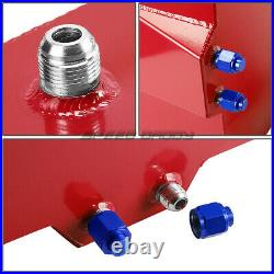 20 Gallon Red Coated Aluminum Racing/drifting Fuel Cell Gas Tank+level Sender