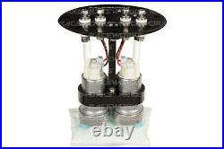 2.6 L Fuel surge tank for twin 40 mm pumps 8AN ports Aluminium billet ALY-083
