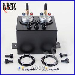 3L High Flow Fuel Swirl Surge Pot Tank + 2PCS External 044 Dual Fuel Pump BK