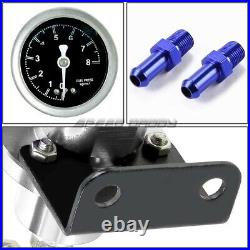 5 Gallon/18.8l Aluminum Fuel Cell Tank+feed Line Kit+pressure Regulator Silver