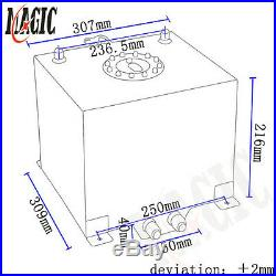 5 Gallon 19 Liter Racing Drift Fuel Cell Tank Polished Aluminum With Level Sender