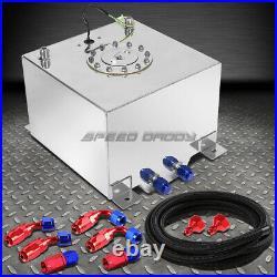 8 Gallon Polished Aluminum Fuel Cell Tank+cap+level Sender+nylon Fuel Line Kit