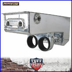 Aeroflow Dual Bosch 044 Pumps Mount Under Car Fuel Surge Tank Polished AF77-1044