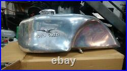 Aluminium Moto Guzzi fuel tank. Cafe racer project
