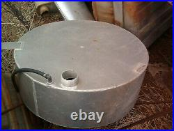 Custom Aluminum Round Spare Tire Gas Tank. 24 X 8 Street Rod Hooch Hauler
