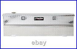 DZ92740X Dee Zee Aluminum Truck Fuel Auxiliary Tank Toolbox Combo Low Profile
