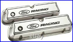Ford Racing Aluminium Rocker Valve Covers Polished 289 302 351 Windsor Mustang
