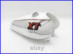 Fuel Petrol Gas Tank White & Chrome Painted Alloy/Aluminium Yamaha XT500