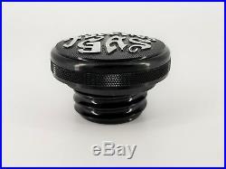 Harley Davidson Fuel Gas Cap Sportster Iron 883 Black