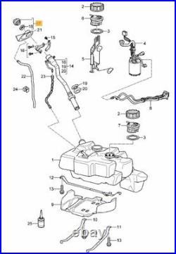 New Genuine Porsche Aluminium Look Fuel Tank Filler Cover Cap 99720198000