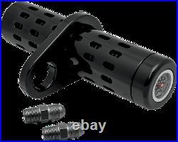Pro One Black Twin Cam Universal Motorcycle Oil Cooler Gauge Kit Harley Davidson