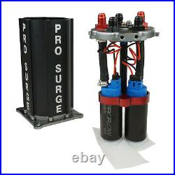 Proflow PFEST40008 Pro-Surge Tank, Fuel Pump System, Aluminium, Black, with Dual