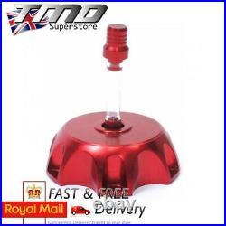 Red Alloy CNC Aluminium Pit Dirt Bike Petrol Fuel Cap Pitbike Motorcycle Tank