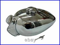 Royal Enfield Trials Chrome Fuel Petrol Gas Tank Petrol Tank With Monza Cap