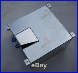 UK SHIP Universal 40L / 10 Gallon Fuel Cell Tank Polished Lightweight Aluminum