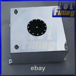 UK SHIP Universal Polished 40L / 10 Gallon Fuel Cell Tank Lightweight Aluminum