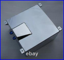 UK STOCK Universal 40L / 10 Gallon Fuel Cell Tank Polished Lightweight Aluminum