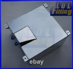 Universal 60L / 15 Gallon Fuel Cell Tank with Foam Polished Lightweight Aluminum